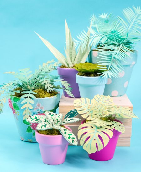 how to make plants with a cricut