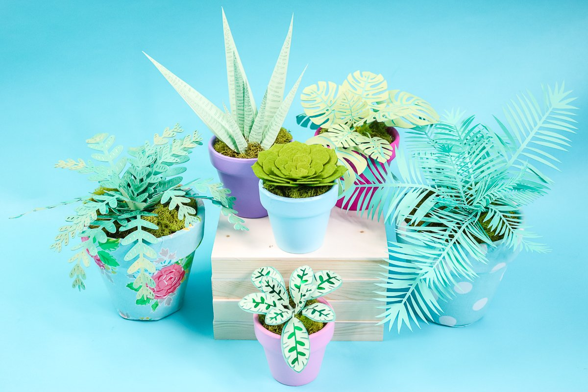 fake plants made from paper