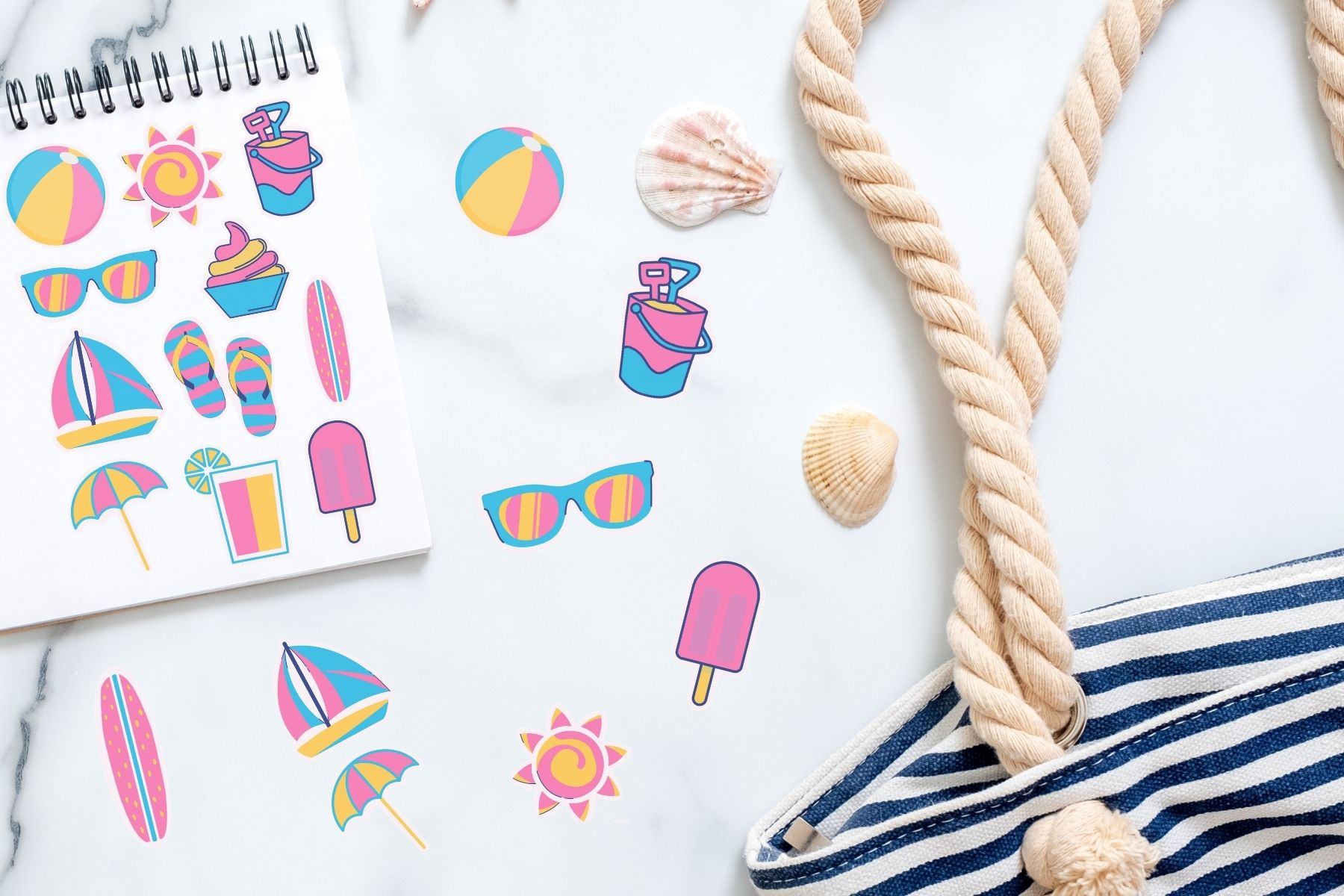 printable summer stickers