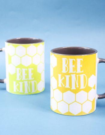 bee themed sublimation mug
