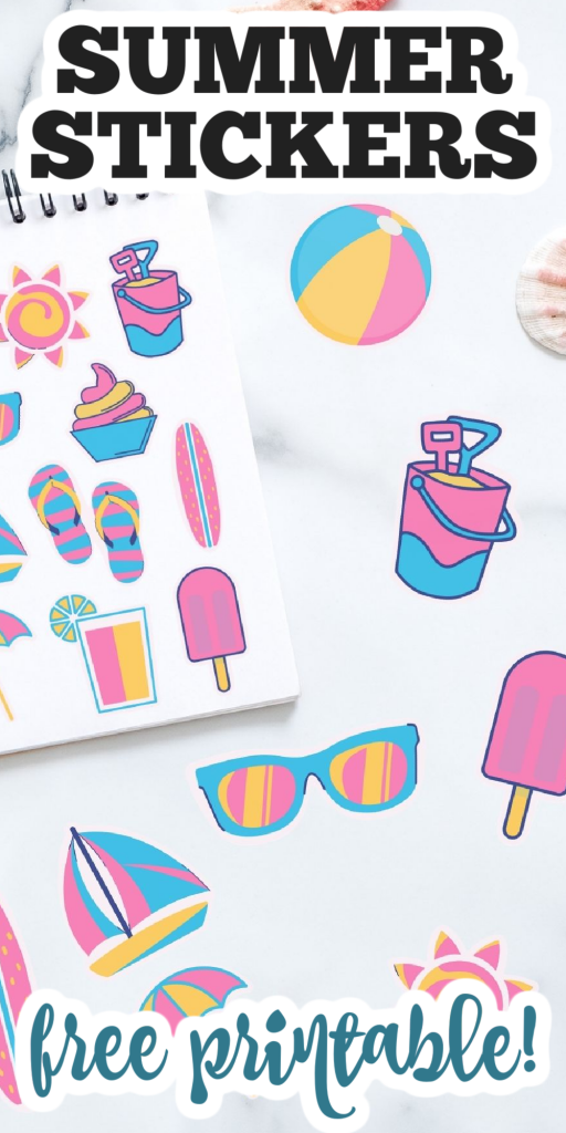summer stickers free printable