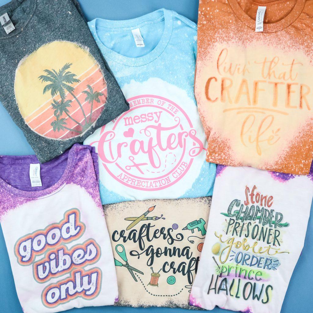 shirts that have had bleach applied