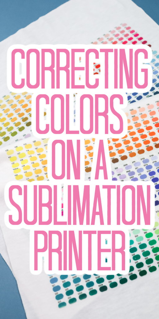 color correction on a sublimation printer