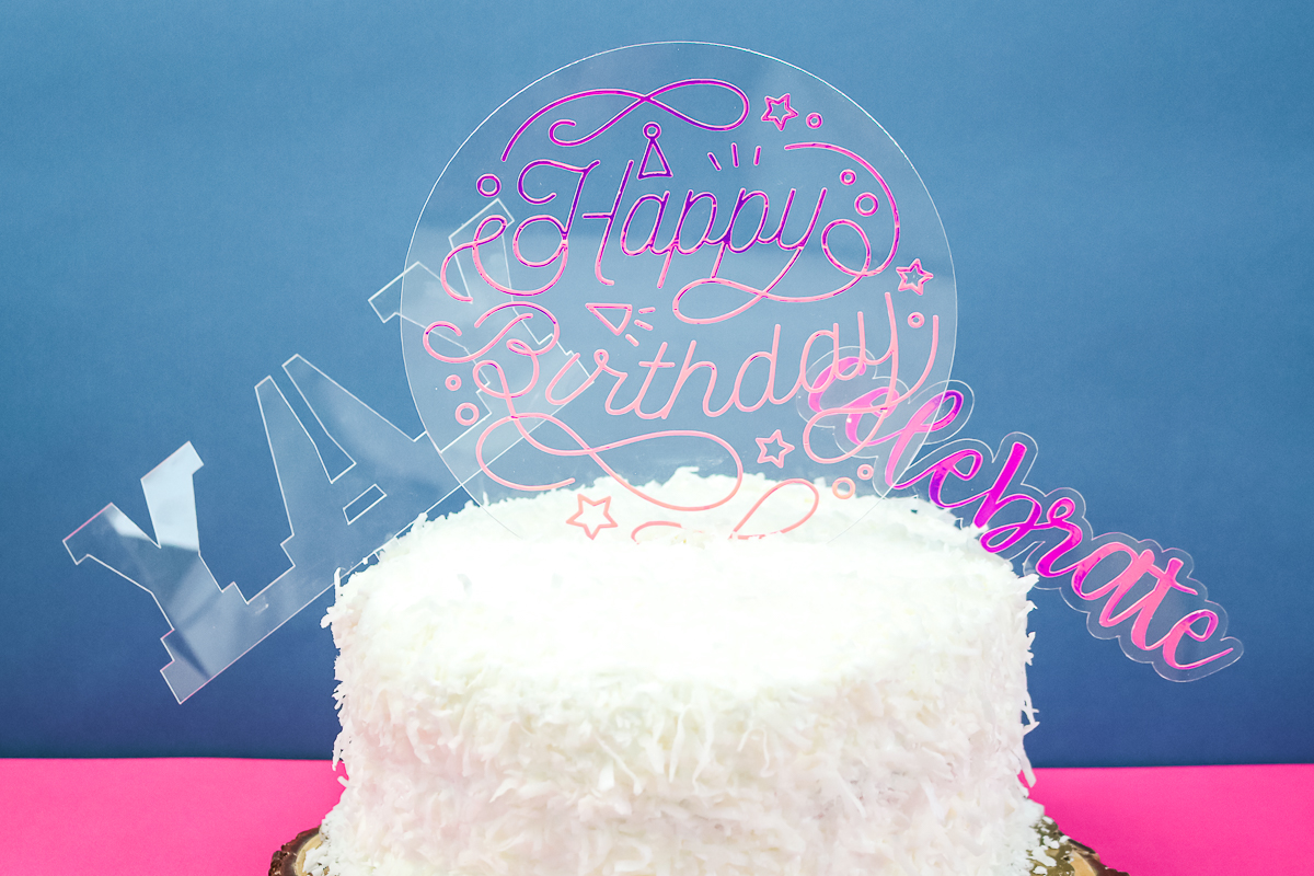 plastic and vinyl cake topper