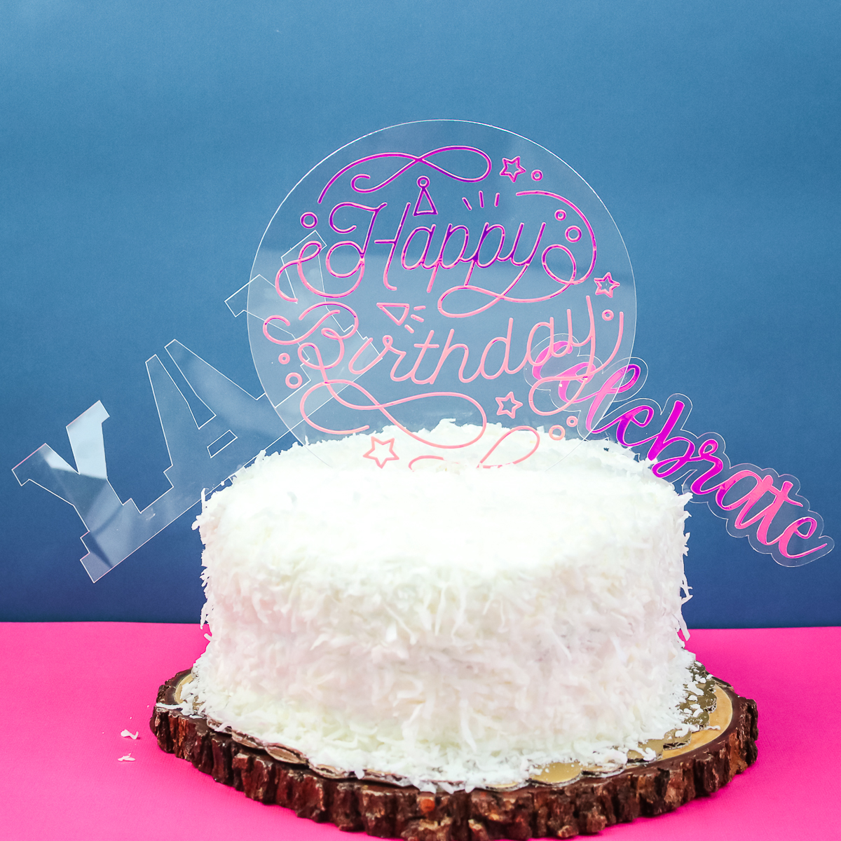 cricut maker diy acrylic cake topper