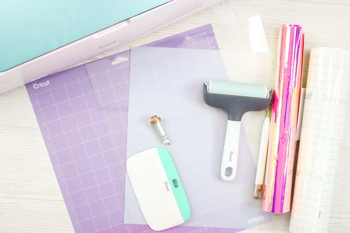 supplies to make a diy acrylic cake topper