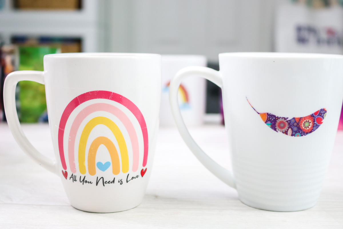 mugs with waterslide decals