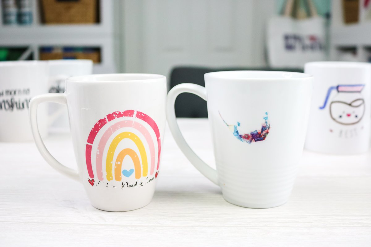 failed waterslide decals on mugs