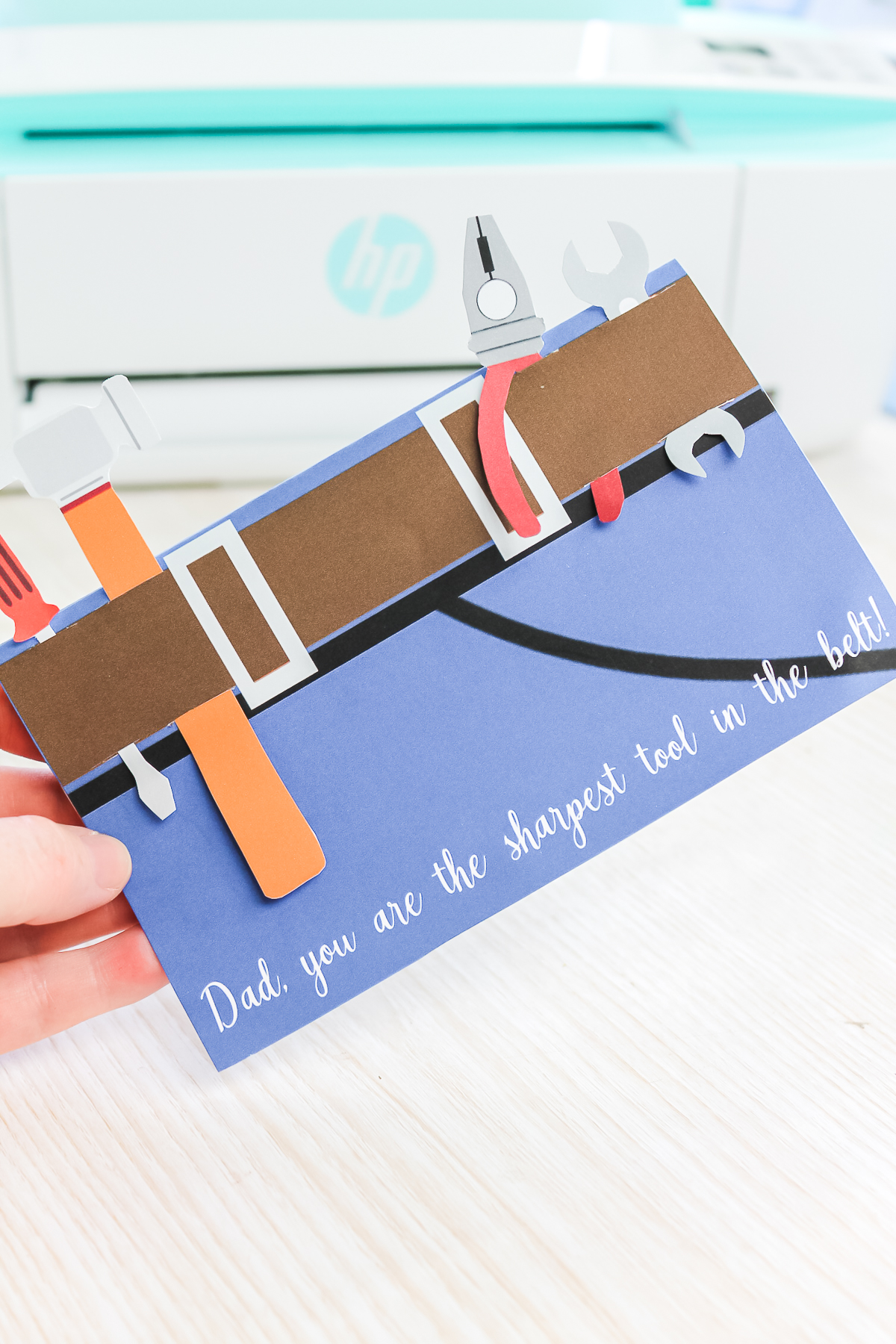 paper tool belt father's day card