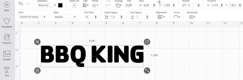 font for stencil in cricut design space