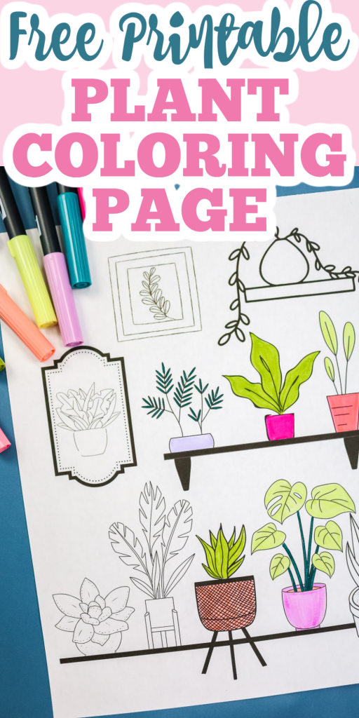 free printable plant coloring page