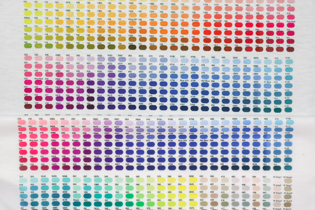 comparison of colors after using an icc file
