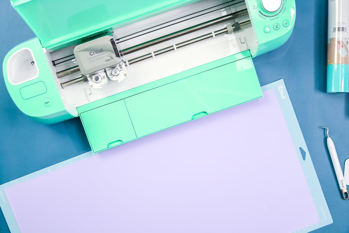 cricut mat with htv sheet