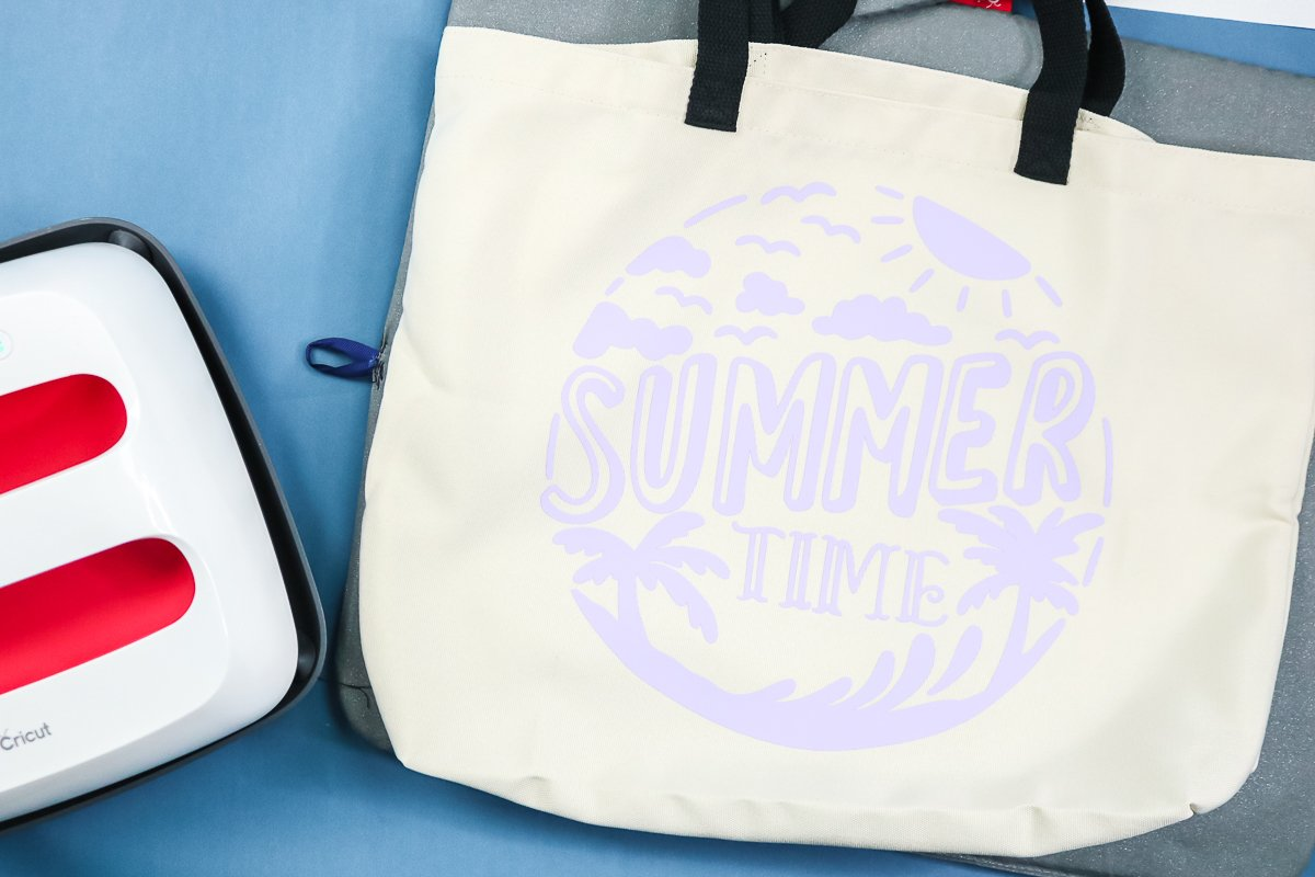 single color of htv on a tote bag