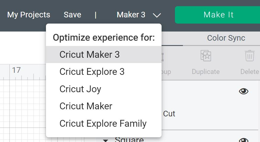picking maker 3 in design space