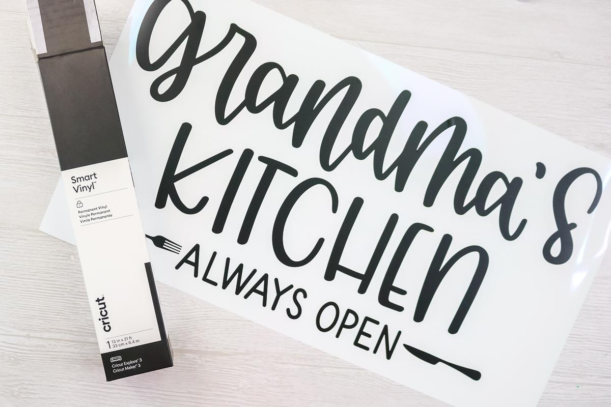 grandma's kitchen sign cut from smart vinyl