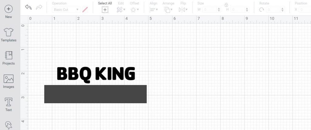 square to make a stencil in design space