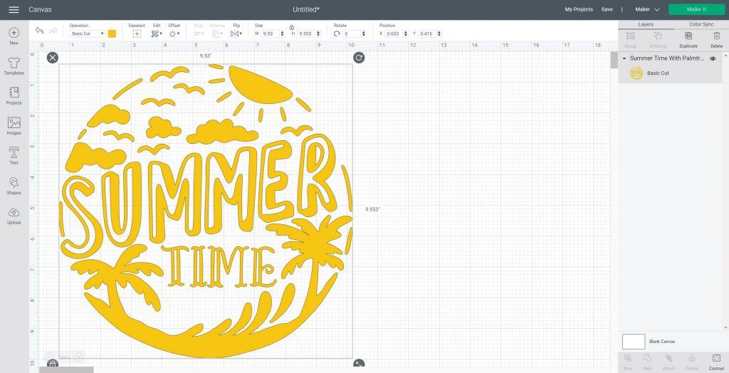 summer time tote bag image