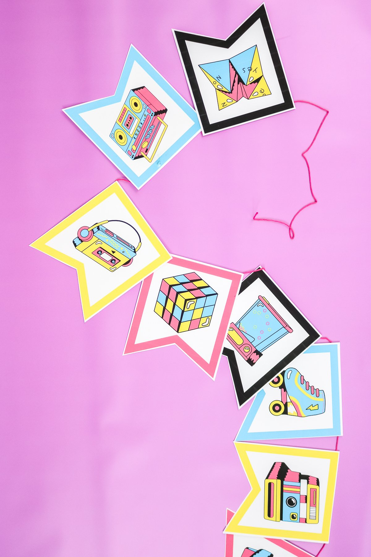 printable banner for an 80s party