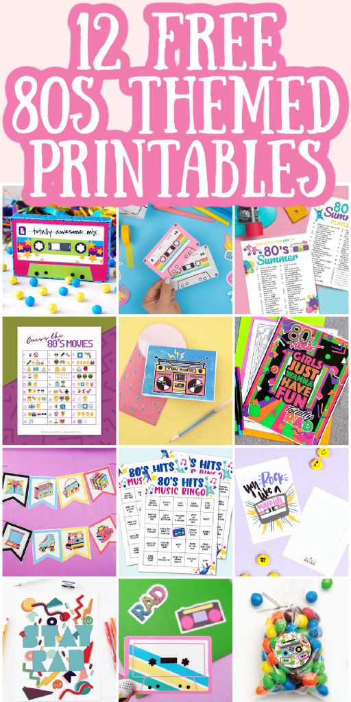 80s themed printables