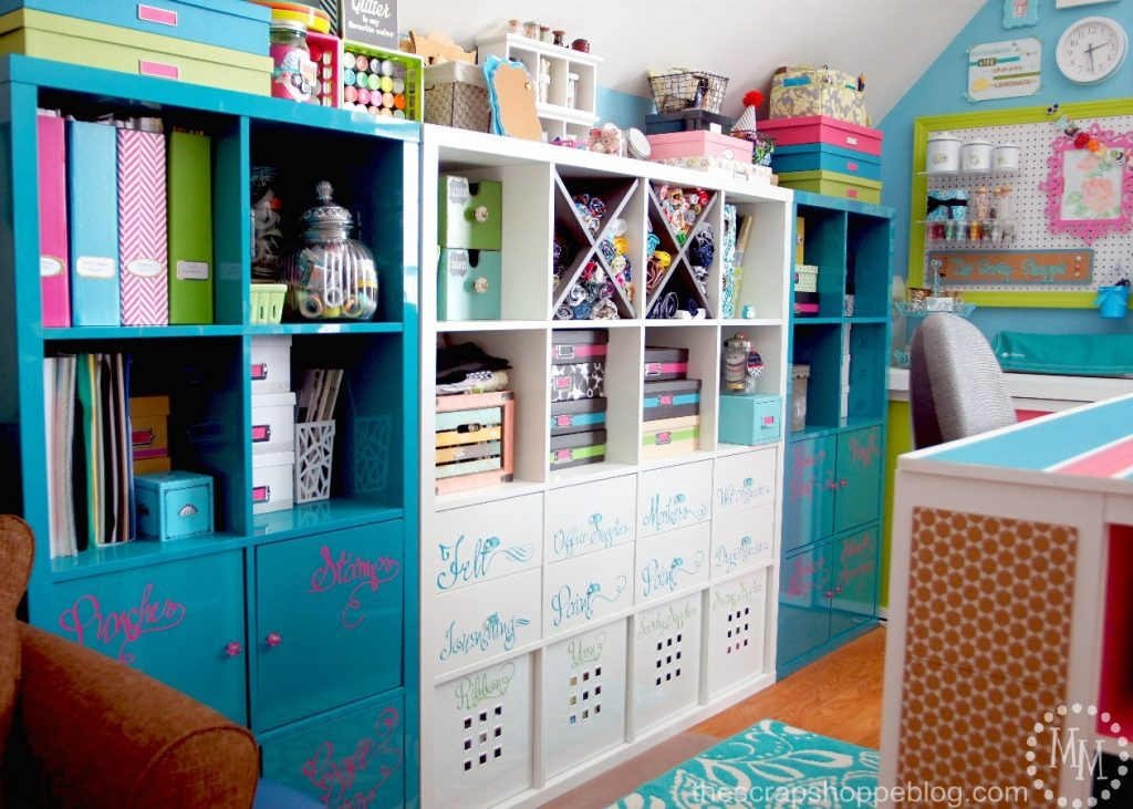 craft organizer for cubbies and wall