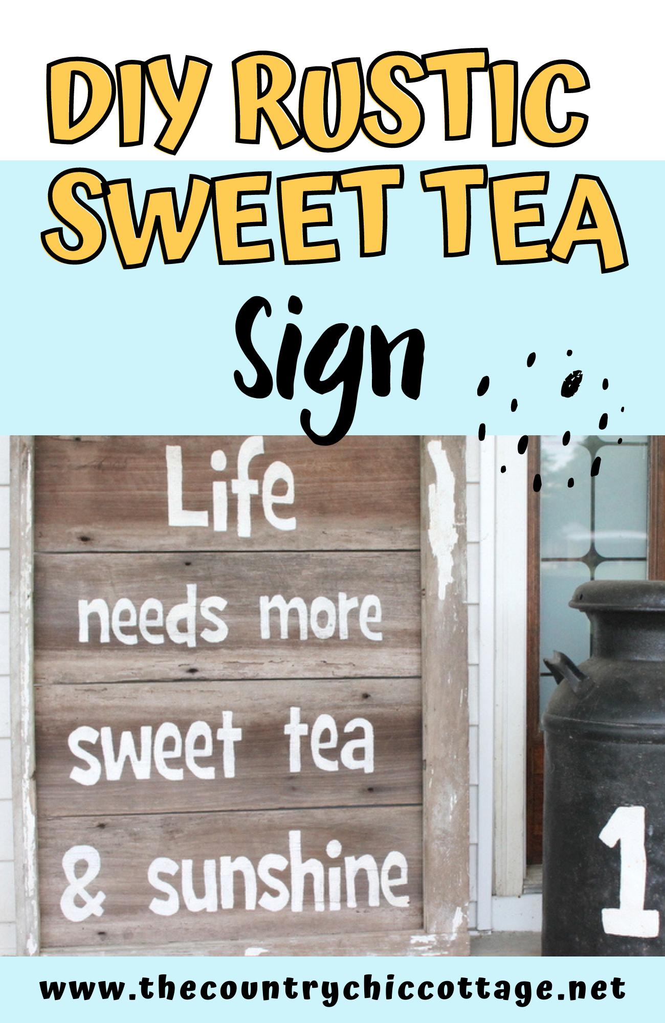 di rustic sweet tea sign