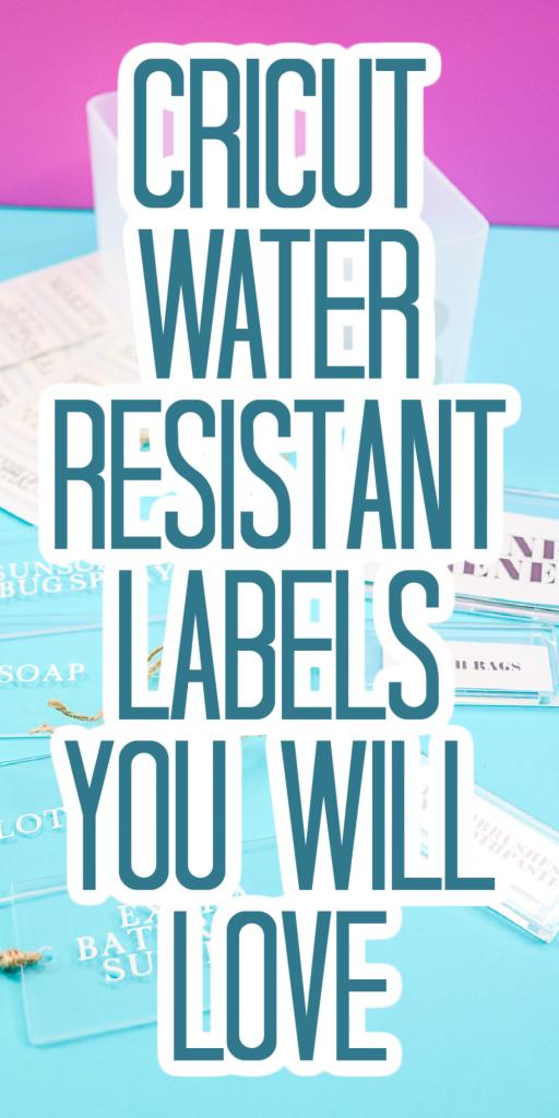 cricut waterproof labels