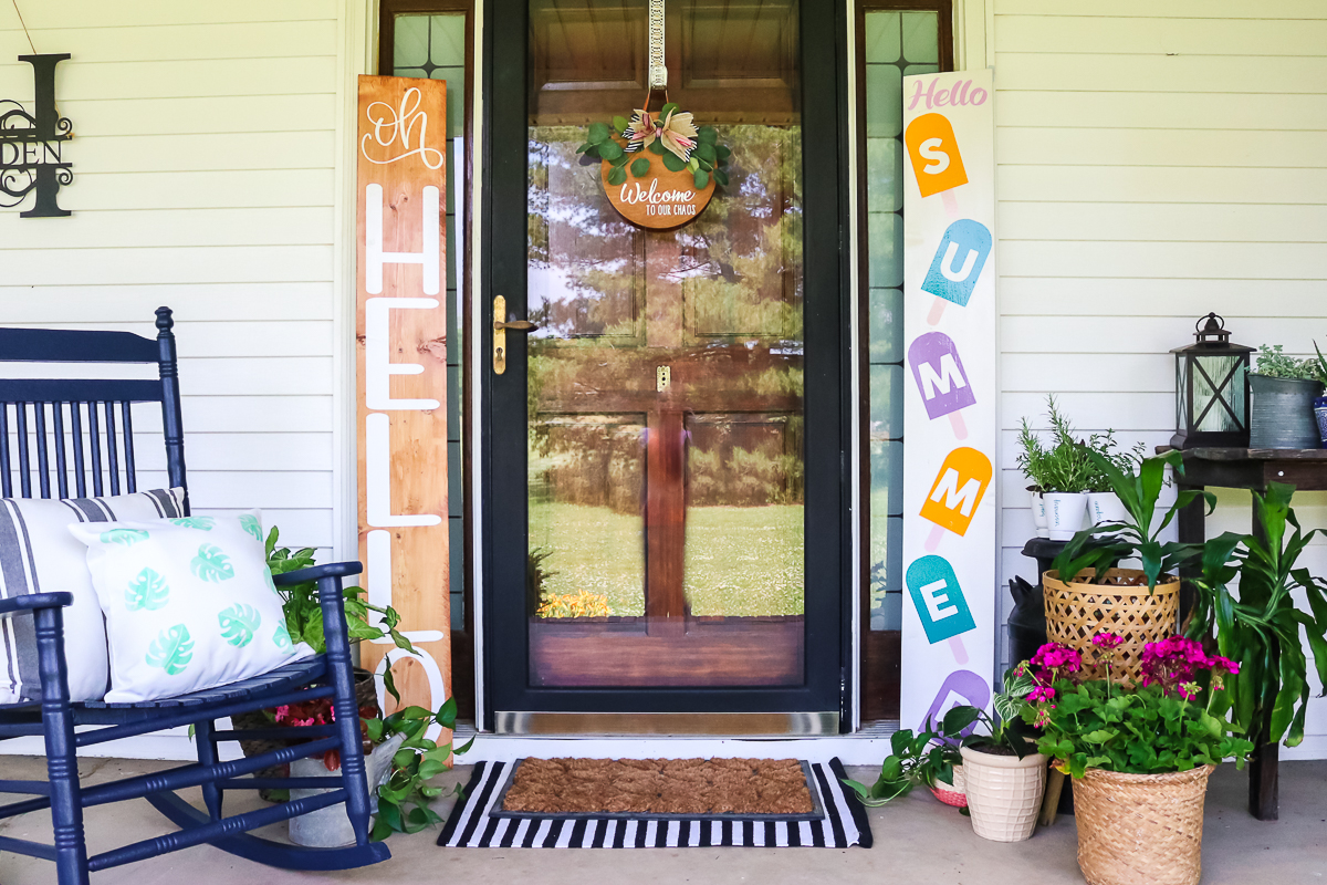 how to make a wood vertical sign for a porch