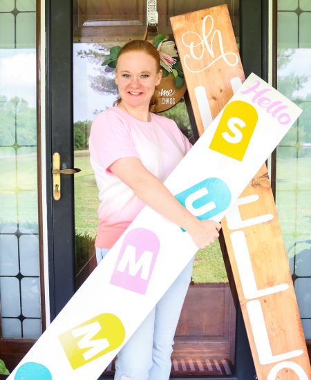 making front porch signs with a cricut