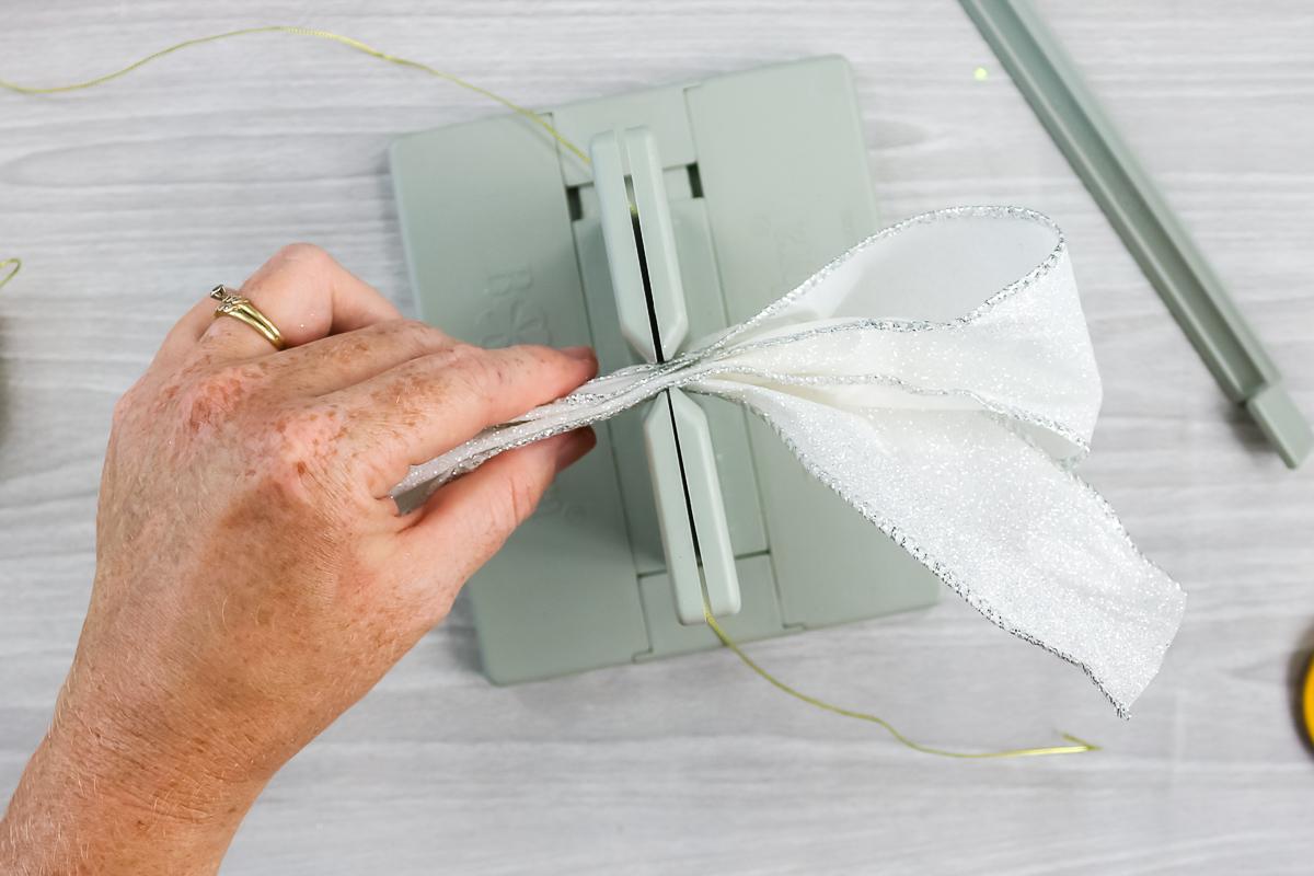 pushing ribbon into the bowdabra