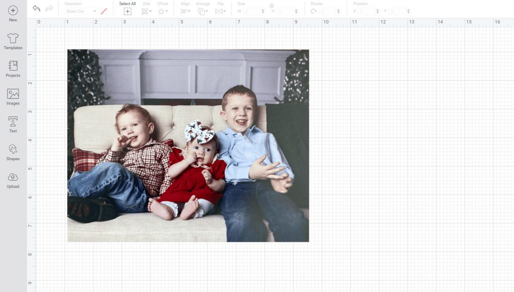 making a picture puzzle in cricut design space