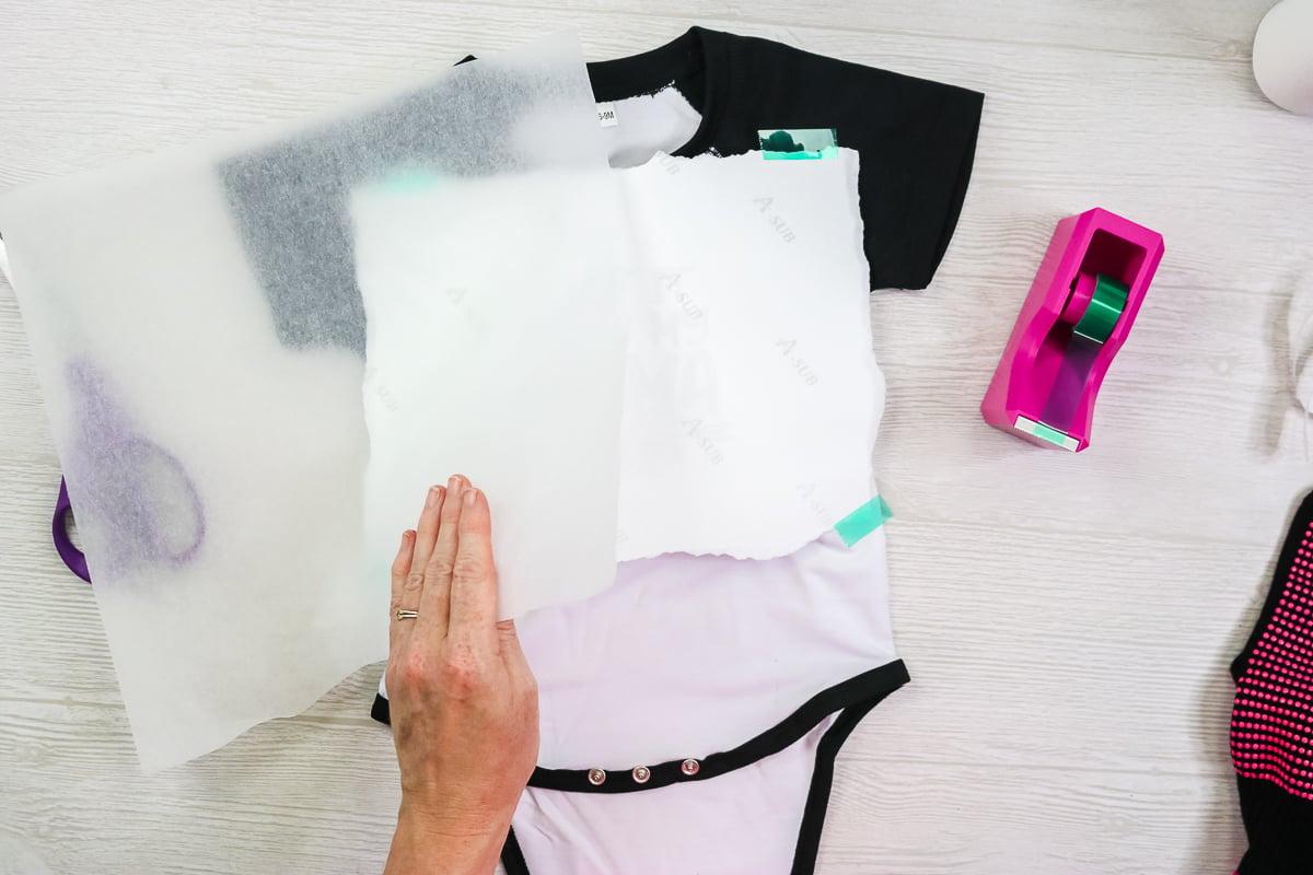 minimizing heat press marks on polyester