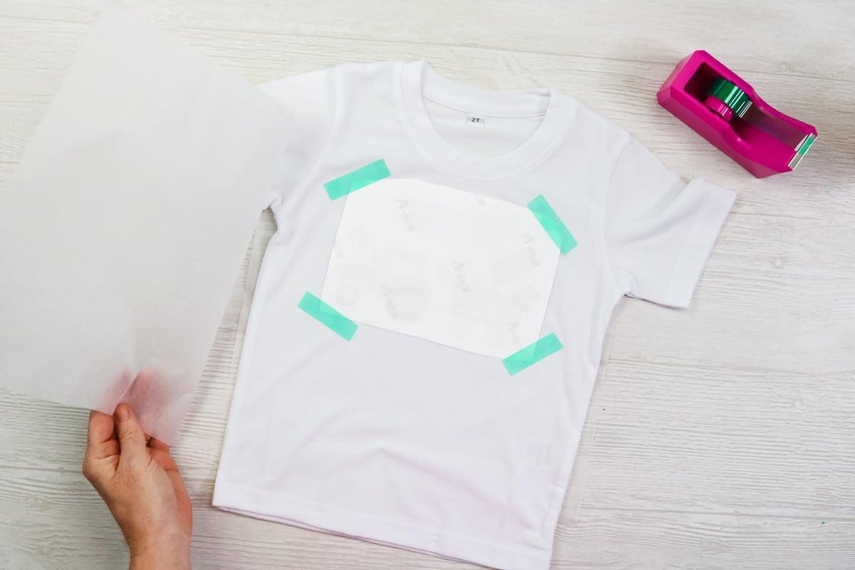 adding a sublimation design to a shirt