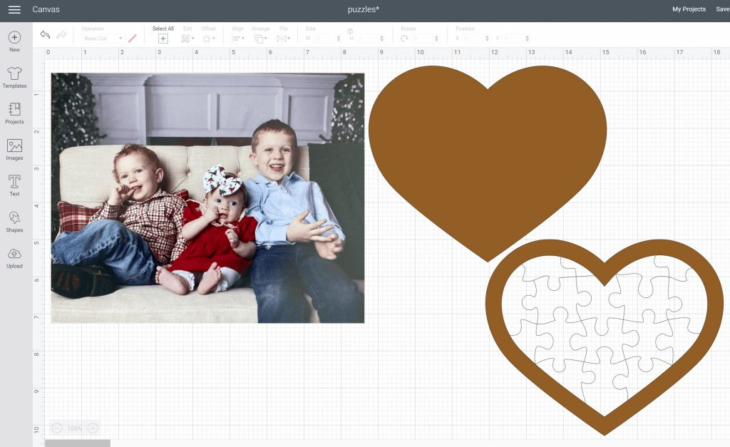 separating puzzle layers in cricut design space