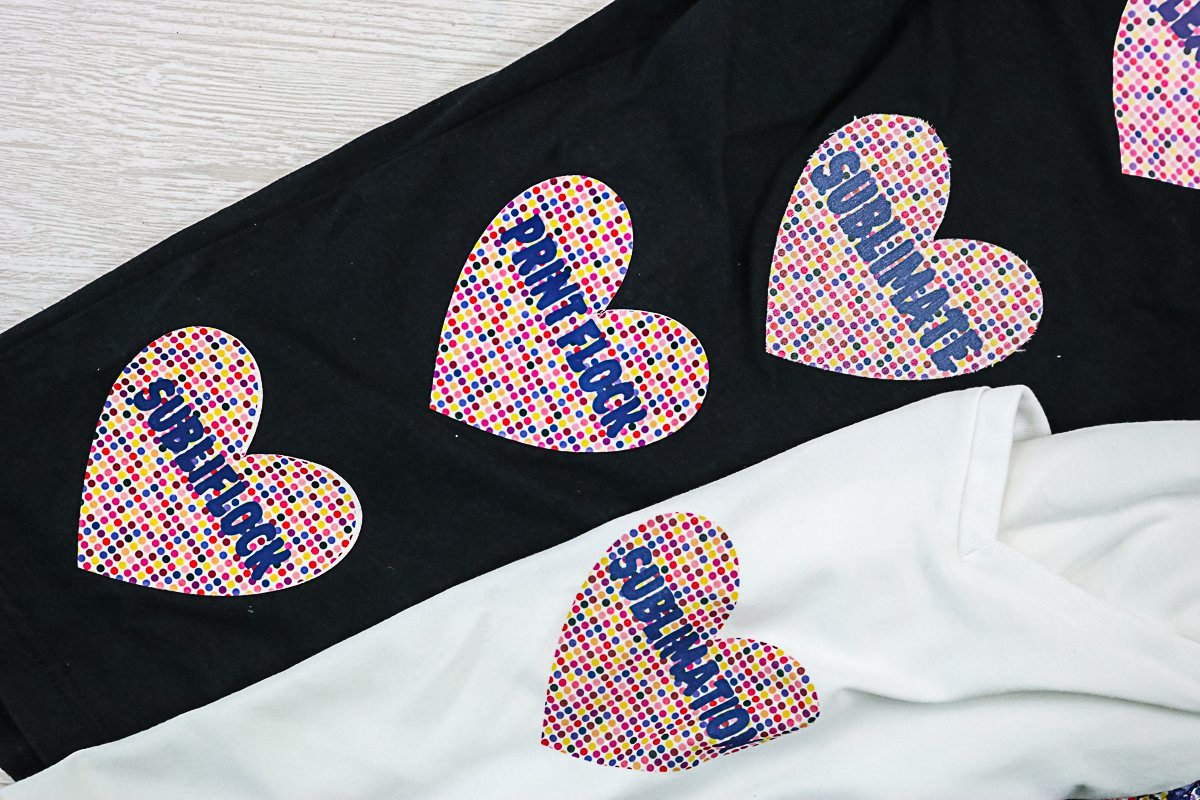 sublimation on dark colors and cotton