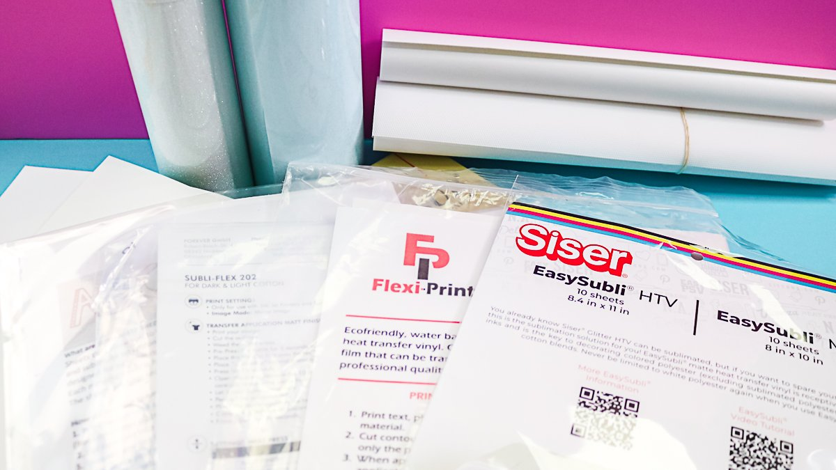 comparing products for sublimation on dark colors and cotton