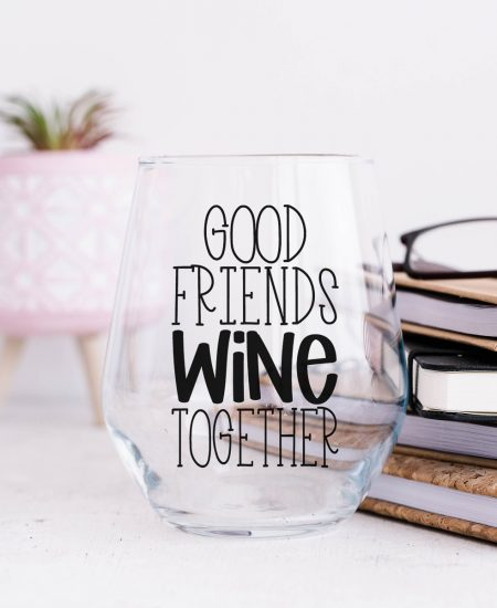 good friends wine together svg file