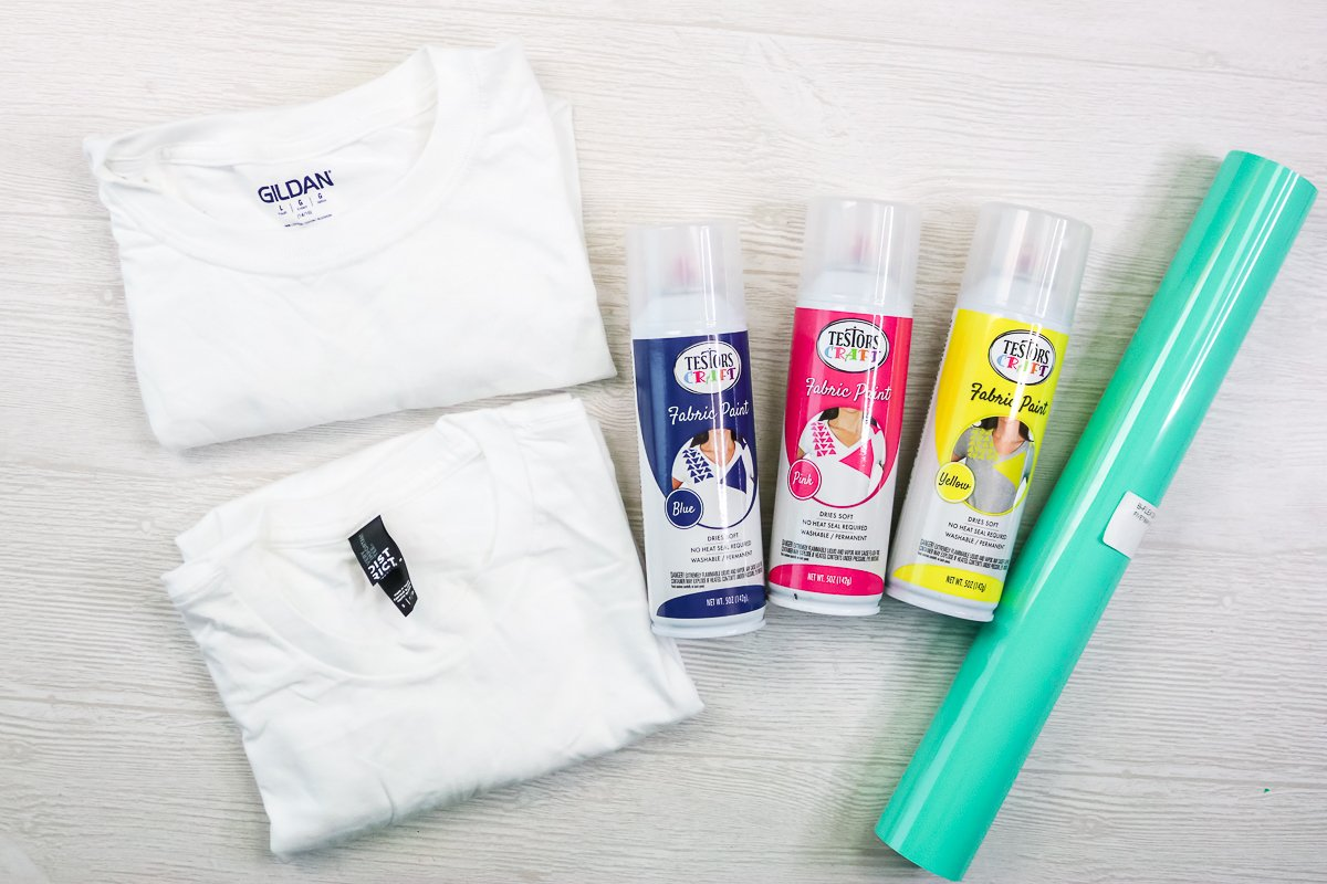 supplies for easy tie dye method