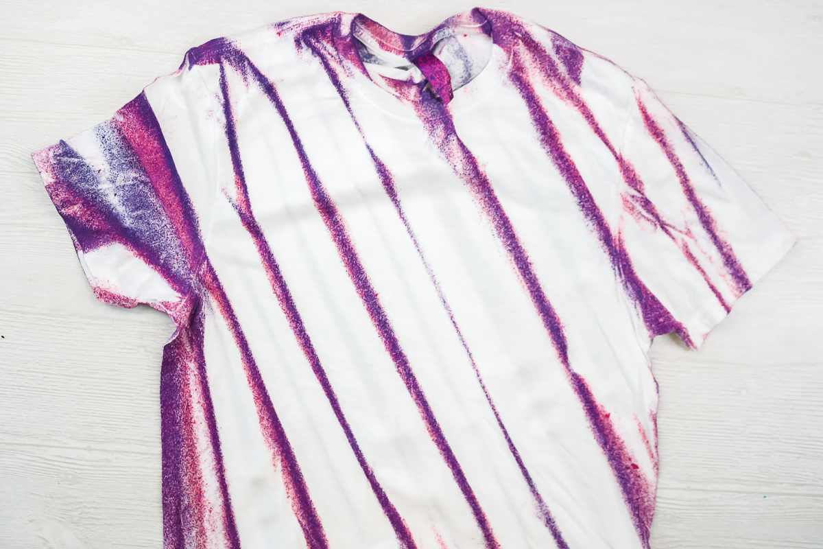 tie dye with folded lines