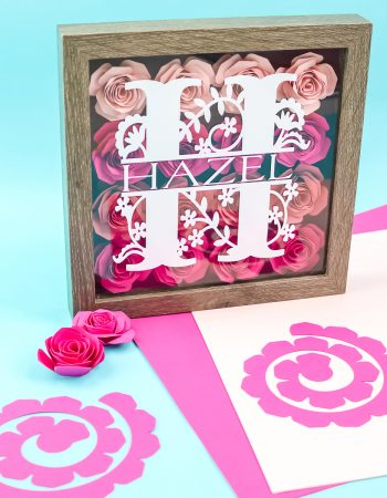 paper flower shadowbox