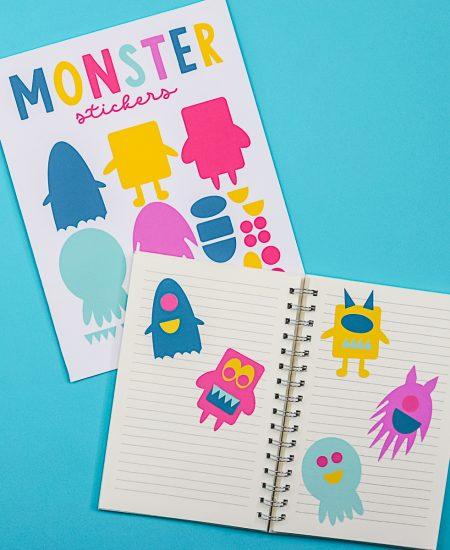 monster sticker sheet