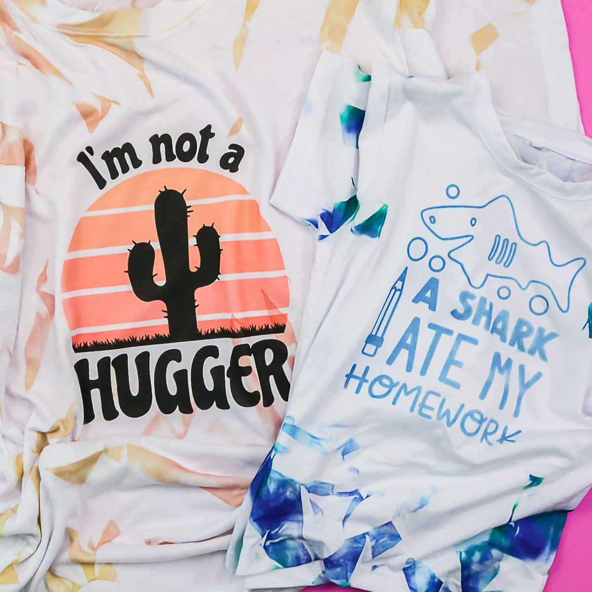 shirts with sublimation tie dye technique