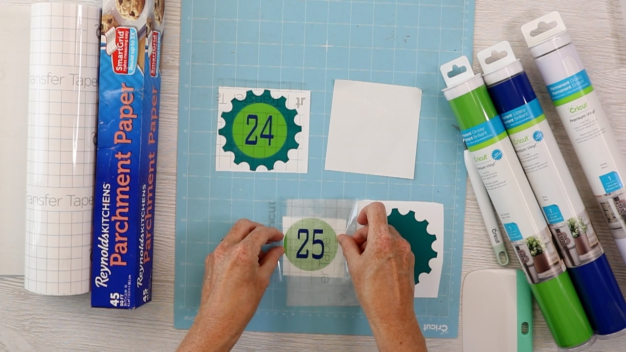 applying vinyl with parchment paper hack