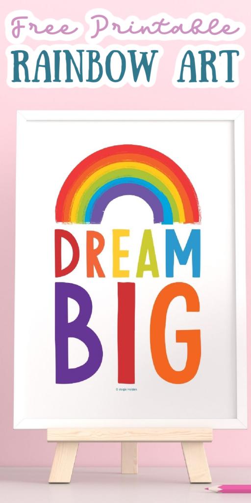 free printable rainbow art