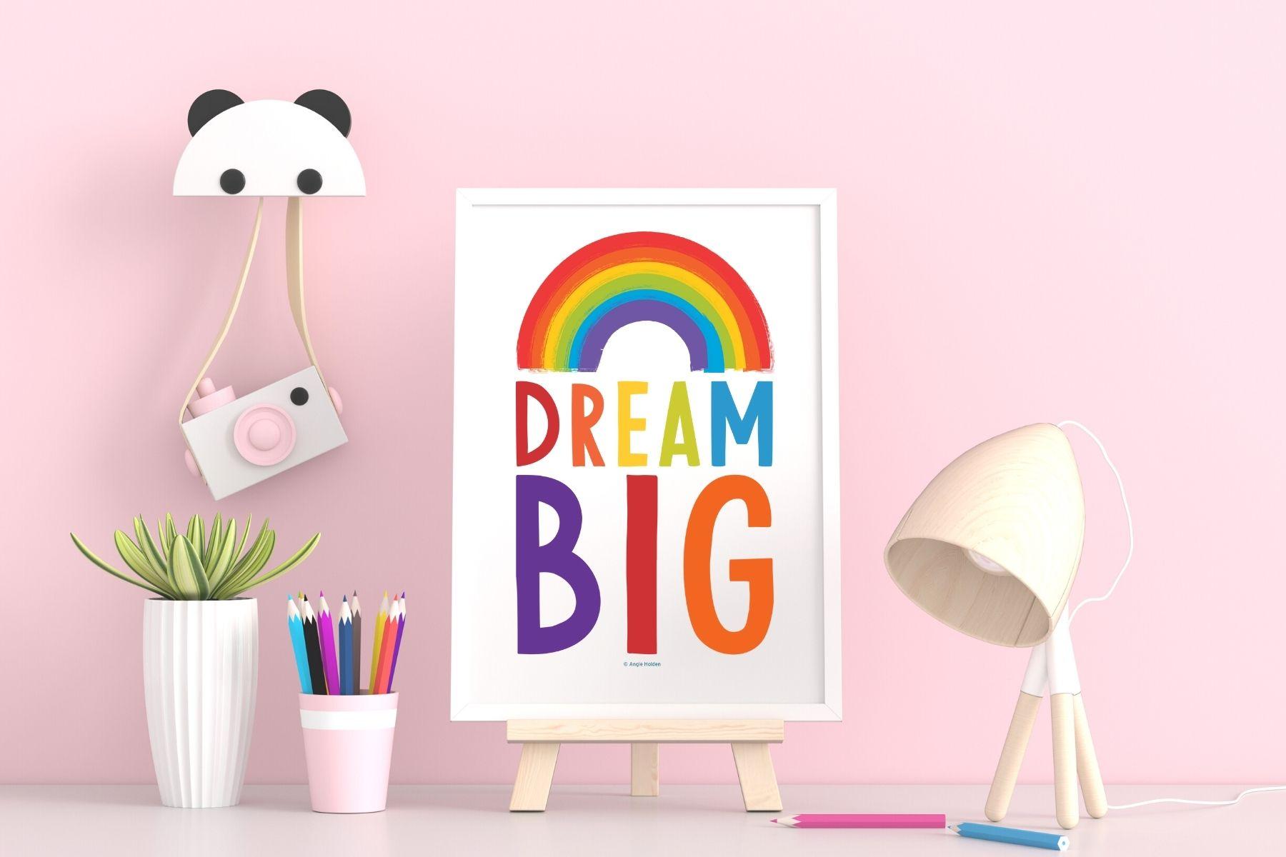 rainbow kids art
