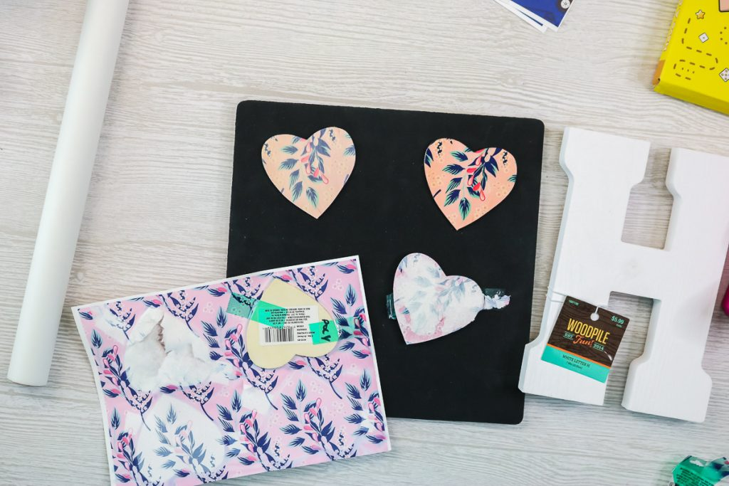 adding sublimation print to wood hearts