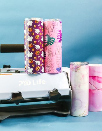 tumbler press with complete full wrap tumblers