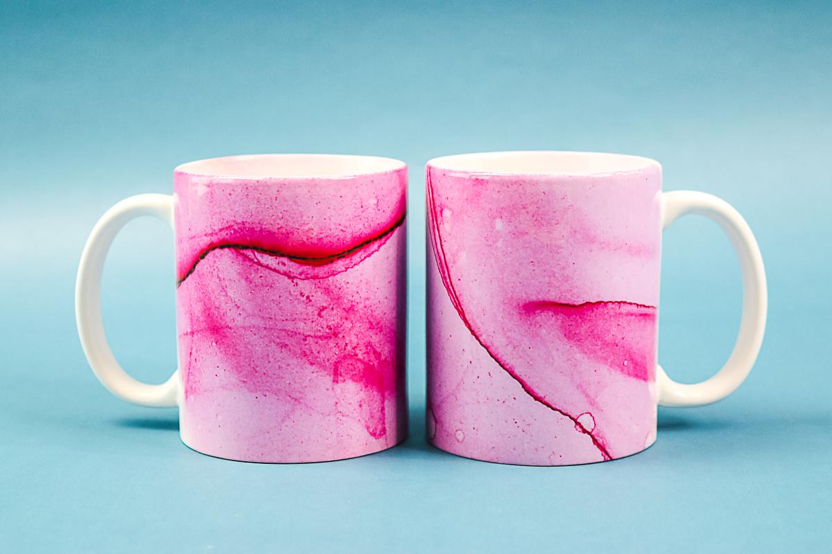 marbled sublimation mugs