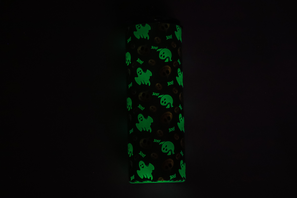 20 oz skinny tumbler that glows in the dark