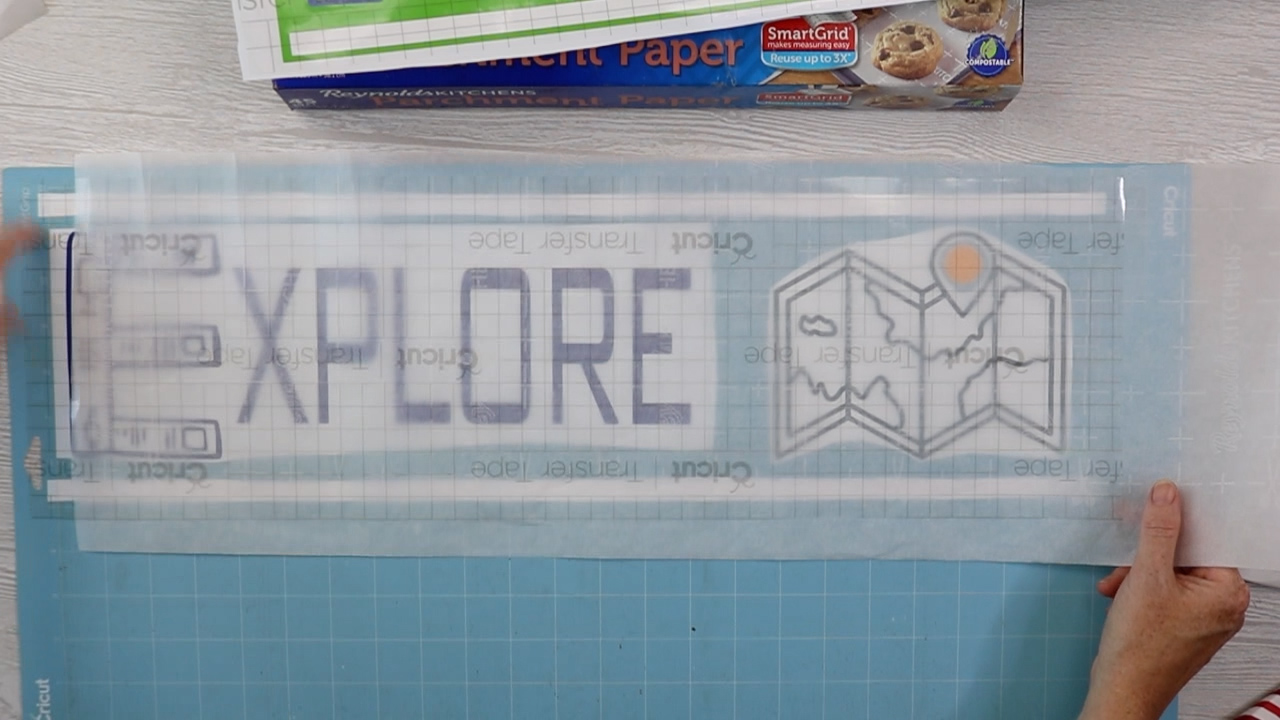 using parchment paper to apply transfer tape